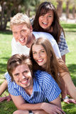 Group of Young couples enjoying Royalty Free Stock Photos