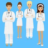 Group young doctor. Vector illustration Stock Photos