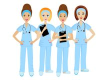 Group young doctor Royalty Free Stock Images