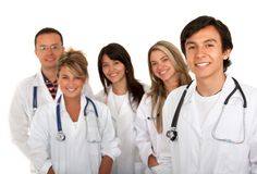 Group of young doctors Stock Photo