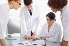 Group of young doctors Royalty Free Stock Photo