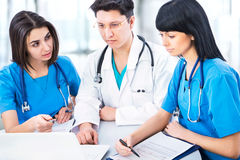 Group of a young doctors Stock Photos