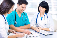 Group of a young doctors Royalty Free Stock Image