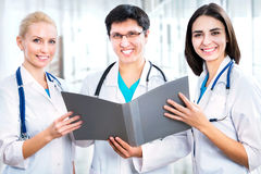 Group of a young doctors Stock Image