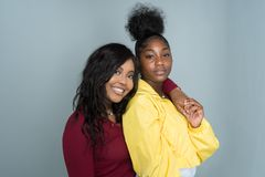 Female African American Friends. Group of young female friends spending time together Stock Photography