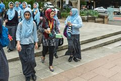 Group of young female Muslim women, Sidney Australia. Royalty Free Stock Photo