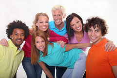Group of young friends. Group of happy young people Stock Photos