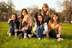 Group of young friends Stock Photo