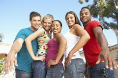 Group Of Young Friends Having Fun Together Royalty Free Stock Photos