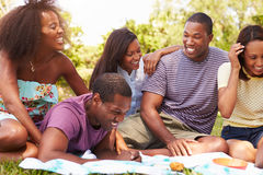 Group Of Young Friends Having Picnic Together Royalty Free Stock Image