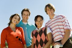 Group Of Young Friends Smiling Royalty Free Stock Images