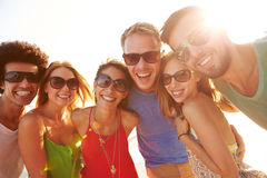 Group Of Young Friends On Summer Holiday Together Royalty Free Stock Photography