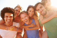 Group Of Young Friends On Summer Holiday Together Stock Photo