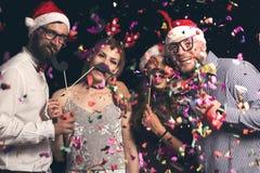 New Year`s Eve costume ball fun royalty free stock photo