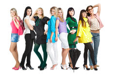 Group of young girls Royalty Free Stock Images