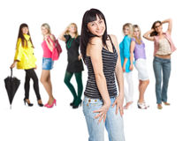 Group of young girls Royalty Free Stock Photos