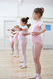 Group Of Young Girls In Ballet Dancing Class Royalty Free Stock Photography