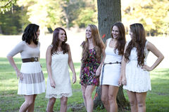 Group of Young Girls Stock Photography