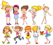A group of young girls Royalty Free Stock Image