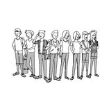 Group of young handsome men and women icon image stock illustration