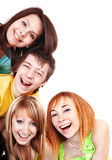 Group of young happy people. Stock Image