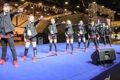 A group of young hip hop dancers. Stock Photos