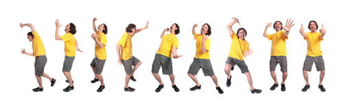 Group of young men dancing Royalty Free Stock Photo