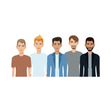 Group of young men Royalty Free Stock Photos