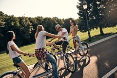 Great day for a bike ride. Stock Photos