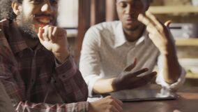 Group of young multiethnic entrepreneurs crowdfunding