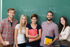 Group of young multiethnic students Royalty Free Stock Photo