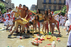 A group of young, Pamplona San Fermin Stock Photography