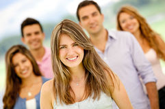 Group of young people Royalty Free Stock Photos