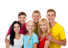 Group of young people Royalty Free Stock Photo