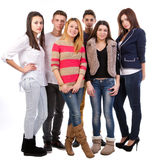 Group of young people. Isolated on white background Royalty Free Stock Photo