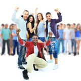 Group of young people. Stock Photo