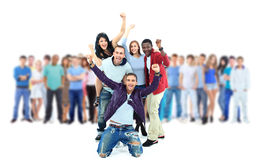 Group of young people. Royalty Free Stock Photography