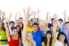 Group of young people from around the world.  royalty free stock photo