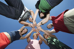Group Of Young People In Circle Royalty Free Stock Photos