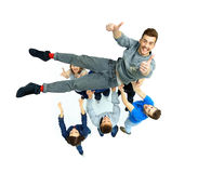 Group of young people congratulating stock photo