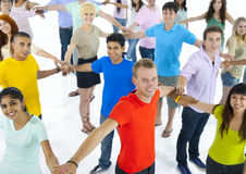 Group of Young People Connecting with Each Other Royalty Free Stock Image