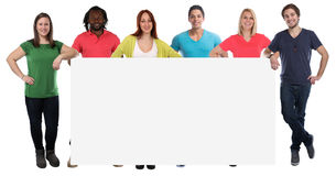 Group of young people copyspace copy space marketing empty blank Stock Photos