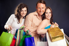Group Of Young People Enjoying Their Shopping Spree Royalty Free Stock Image
