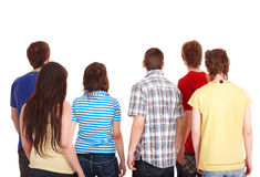 Group of young people go away. Royalty Free Stock Images