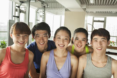 Group of young people in the gym, portrait Royalty Free Stock Photography