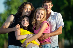 A group of young people having fun Stock Photos
