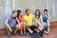 Group of young people having fun Stock Image