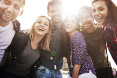 Group of young people having a good time Stock Photo