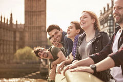 Group of young people having a good time Stock Images