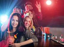 Group of young people having party celebration. Royalty Free Stock Photo